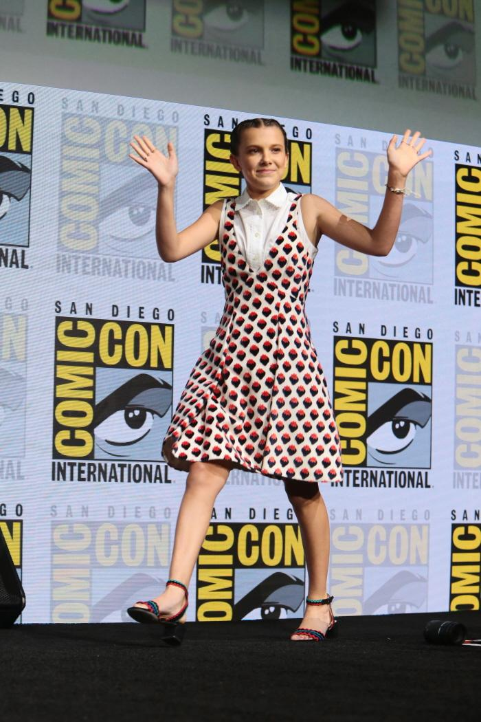 Millie Bobby Brown at San Diego Comic-Con 2017.