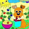 Kid's coloring: Happy dog